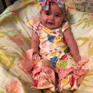 Easter Ruffle Outfit 3-6 mo